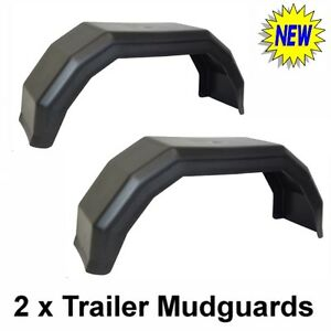 A Pair Of Plastic Trailer Mudguards Car Trailers Mud Guard Brand