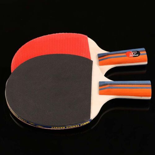 Table Tennis Ping Pong Paddles Red/&Black for Beginner Set 2 Rackets and 3 Balls