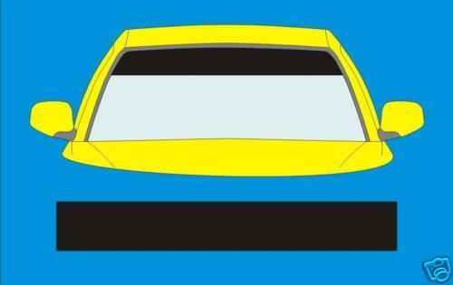 Matt black sunstrip fit toyota voiture decals graphics stickers