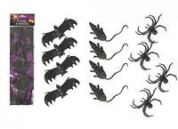 Halloween Realistic Bats Rats Spiders Mice Rodent Decoration Prop Rubber Joke