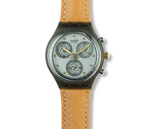 New-Condition-SWATCH-1992-Chrono-039-SIRIO-039-SCM101-Vintage-Collectors-Leather-Watch