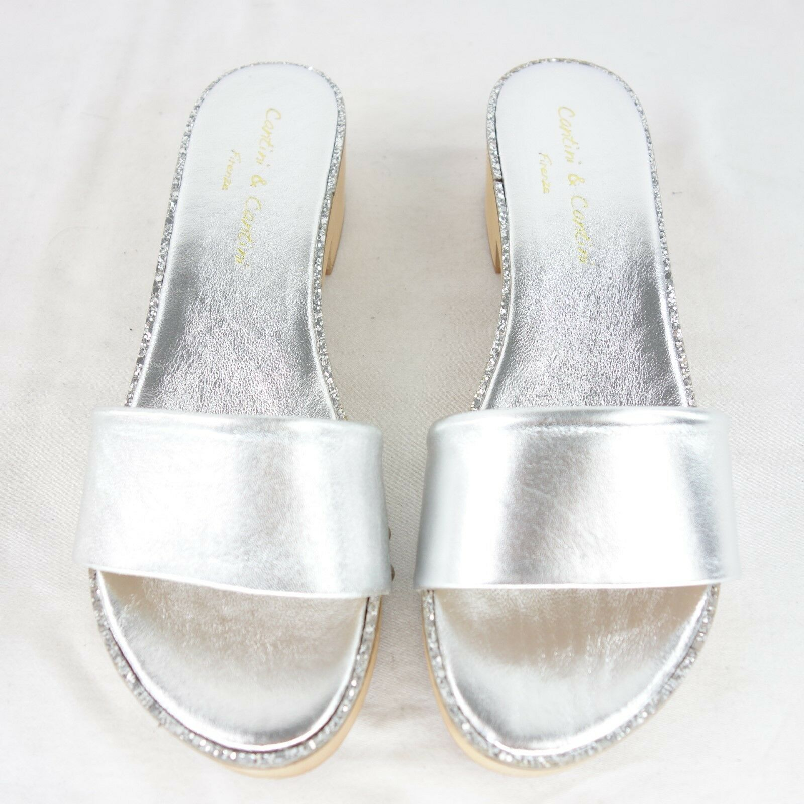 CANTINI & CANTINI Firenze Damen Pantoletten Clogs Gr 40 NEU Leder Schuhe NP 105 NEU 40 c0b7c2