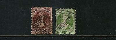Verantwortlich Neuseeland 1864-67 Chalon Head F Gebraucht 6d And 1sh Wmk Groß Stern