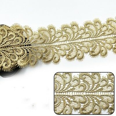 2m vintage floral embroidered edge edging trim ribbon tape