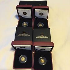 Canada 2011 1/25 oz FOUR-gold coin set - LOW 2500 mintage