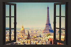 PARIS-WINDOW-SCENIC-POSTER-24x36-TRAVEL-EUROPE-FRANCE-EIFFEL-TOWER-891