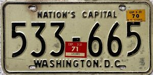 Washington-DC-USA-Nations-Capital-American-License-Licence-Number-Plate-533-665