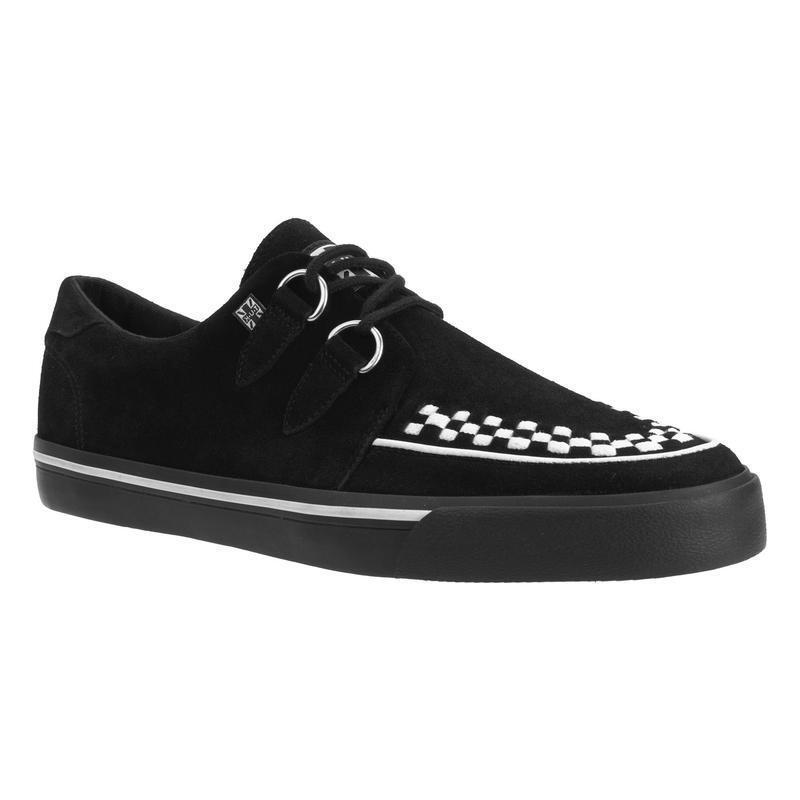 T.U.K A9182 VLK D WHT Ring Creeper Sneaker Black Suede WHT D Inter 585a6f