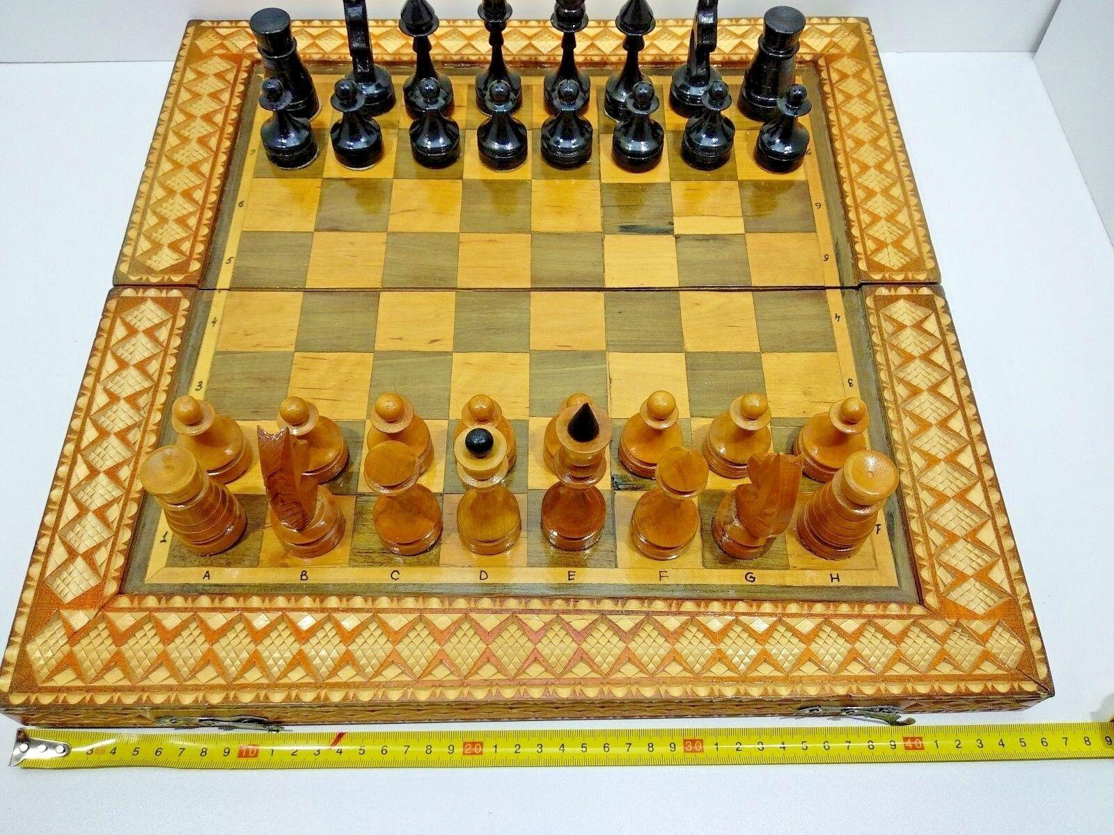 46x46 tallado a mano de un un un grupo de tableros de madera soviético único en su génegro. 4f6