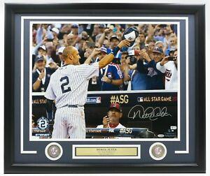 Derek Jeter Signed Framed 16x20 Final 2014 All Star Game Photo MLB Steiner COA