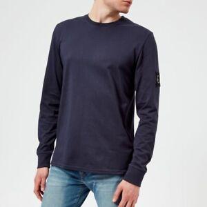 Marshall-Artist-Siren-LS-T-Shirt-Blu-Navy-piccole-Nuovo-di-Zecca-Long-Sleeve-Tee
