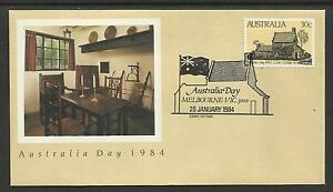 AUSTRALIA-1984-AUSTRALIA-DAY-CAPTAIN-COOK-COTTAGE-1v-FDC-Pictorial-Postmark