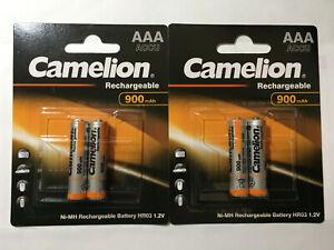 4x Camelion Aaa 900 Mah Accu Micro Wiederaufladbare Akku Neu Elegantes Und Robustes Paket
