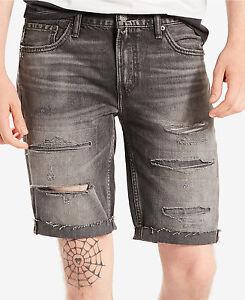 9865edcab2 NWT Men's Levi's 511 Slim-Fit Cutoff Ripped Jean Shorts Death and ...