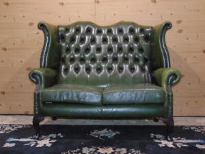 Divano Chester Originale Inglese In Pelle.Divano Chesterfield 2 Posti Originale Inglese In Pelle Verde