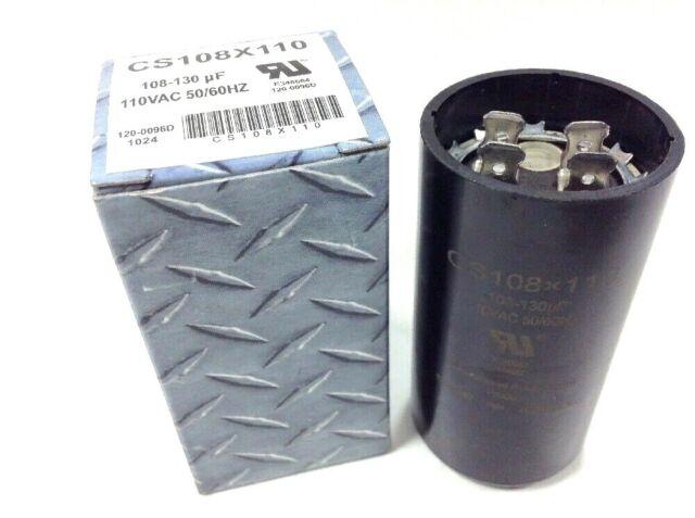 156uF 110VAC Dual Voltage 125VAC Motor Start Capacitors New 3 pcs of 130uF