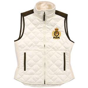 ***NWT***  Ralph Lauren Women/'s Polo Crest Quilted Puffer Vest in Burgundy
