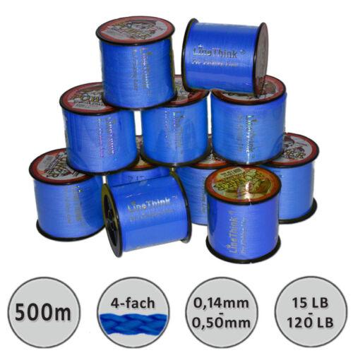 500m Angelschnur BlauRundgeflochten 0,14mm-0,50mm Angelhotspot 0,048€//m