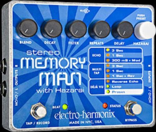 EHX Electro Harmonix STEREO MEMORY MAN with HAZARAI Guitar Effects Pedal