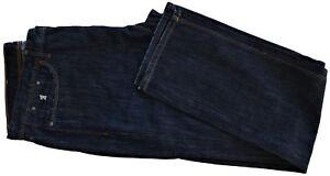 Jaens-Uomo-Blu-Scuro-Jaggy-Jeans-Men-Dark-Blue-Mcqueen-Slim-Bugi-Fisso