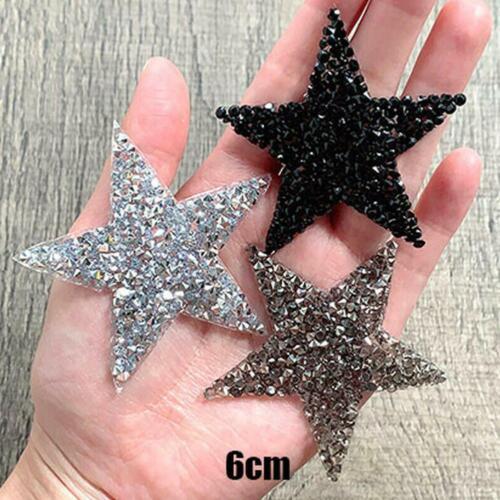 6cm Kristallrhinestone-Stern-Flecken-nähendes Eisen auf Flecken-Applikation