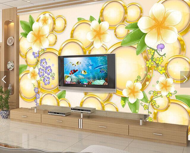 3D Blumenmuster Ring 69 Tapete Tapeten Mauer Foto Familie Tapete Wandgemälde DE