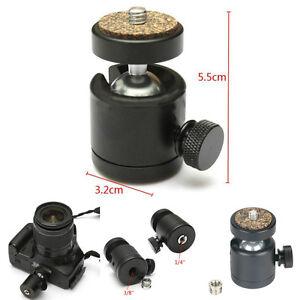 "360° Swivel Mini Ball Head 1/4"" Screw Mount Bracket Holder fr DSLR Camera Tripod"
