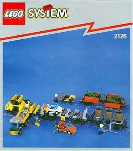 Ensemble de wagons de marchandises Lego® System Rail 2126 Nouvelle rareté non ouverte