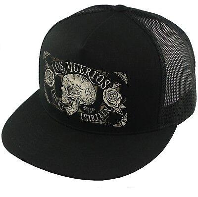 Lucky 13 Old Towne Mesh Trucker Tattooed Biker Punk Snapback Cap Hat LCSB5OT