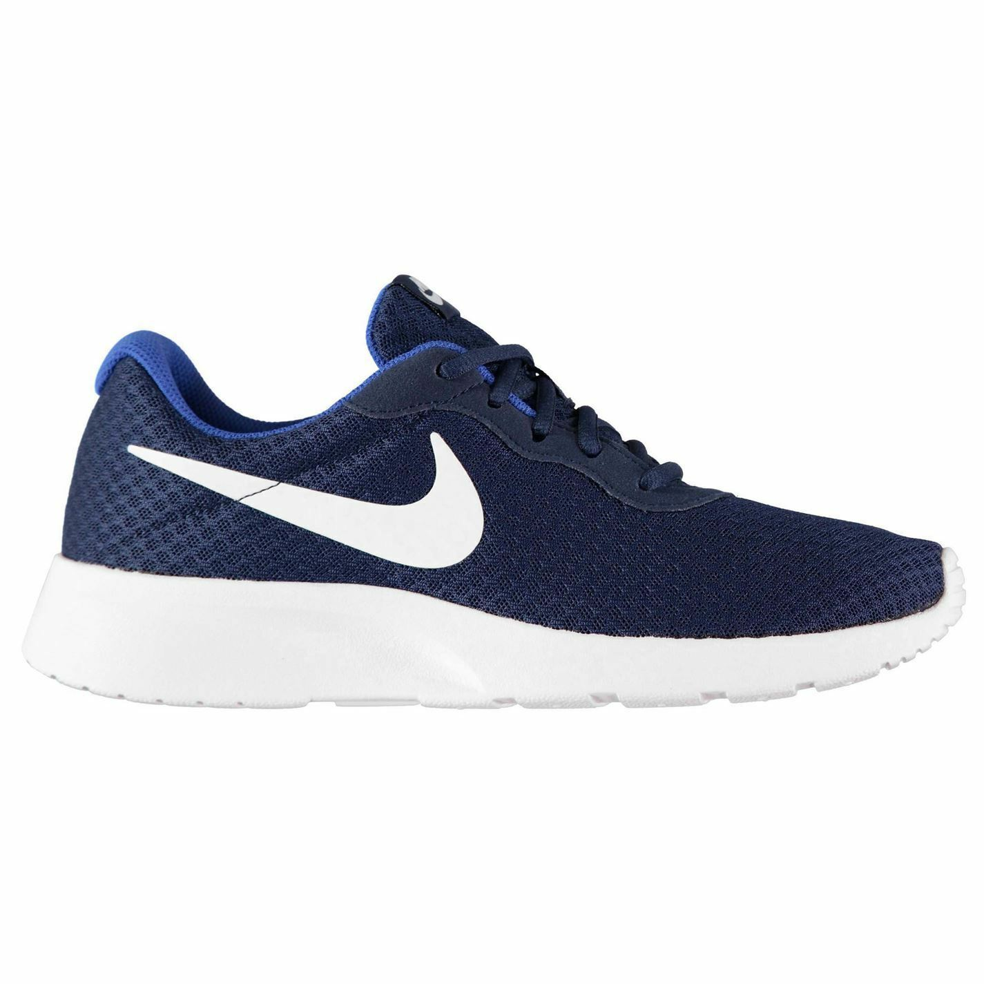 Nike Tanjun Trainers Mens Navy White Athletic Sneakers shoes