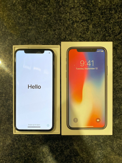 iPhone X, 128 GB, sort, Perfekt, IPhone X, 128GB. Meget…
