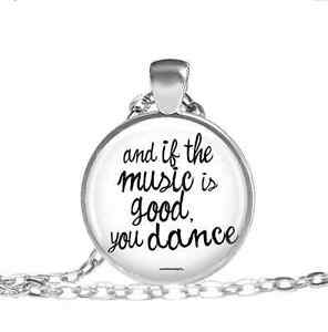 Music-and-Dance-Necklace-Concert-Glass-cabochon-pendant-chain-Necklace-33