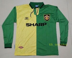 Manchester United 93 94 Newton Heath Retro Long Sleeve Soccer Jersey ... 6bc07cfc0