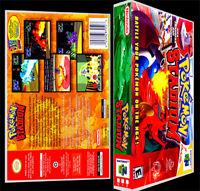 Pokemon Stadium - N64 Reproduction Art Case/box No Game.