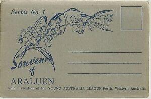 FOLD OUT VIEWS OF ARALUEN WESTERN AUSTRALIA POSTCARD SERIES 1