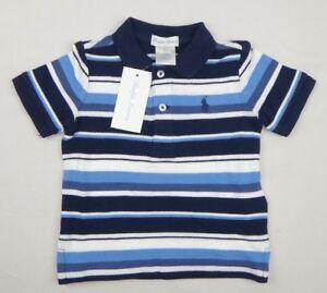 948307ead821 Ralph Lauren Baby Boys  Striped Cotton Polo Shirt Top sizes 9