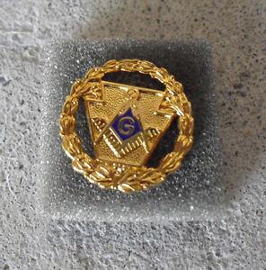 Vintage-1990s-Gold-Tone-Metal-Freemason-Grand-Lodge-Pennsylvania-Pin-Back