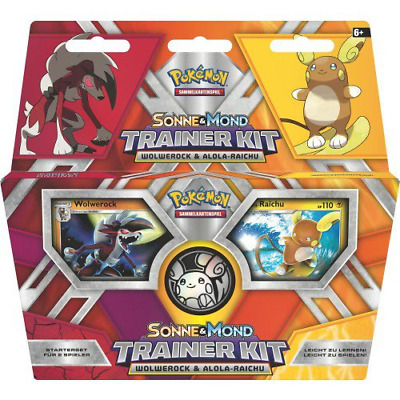 Pokemon Sonne & Mond Trainer Kit 10 TCG Sammelkartenspiel Starter Set für 2