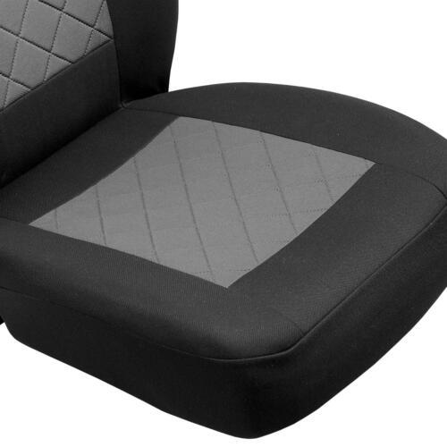 Schwarz-graue Sitzbezüge für OPEL MERIVA Autositzbezug Komplett