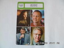 CARTE FICHE CINEMA JON VOIGHT période 1987 - 2004