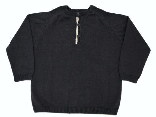 Boys Ex Zara Long Sleeve Fine Knitwear Jumper Sweater Dark Grey Age 3 to 8 Years