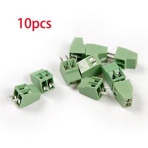 10pcs-2-Pole-2-54mm-0-1-039-039-Pitch-PCB-Mount-Screw-Terminal-Block-Connector