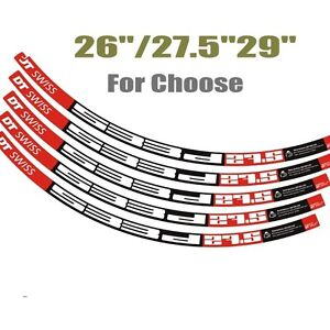 "DT MTB Rim Wheel Decal Sticker Replacement For 26/""//27.5/""//29/"" For Road Bike 2RIMS"