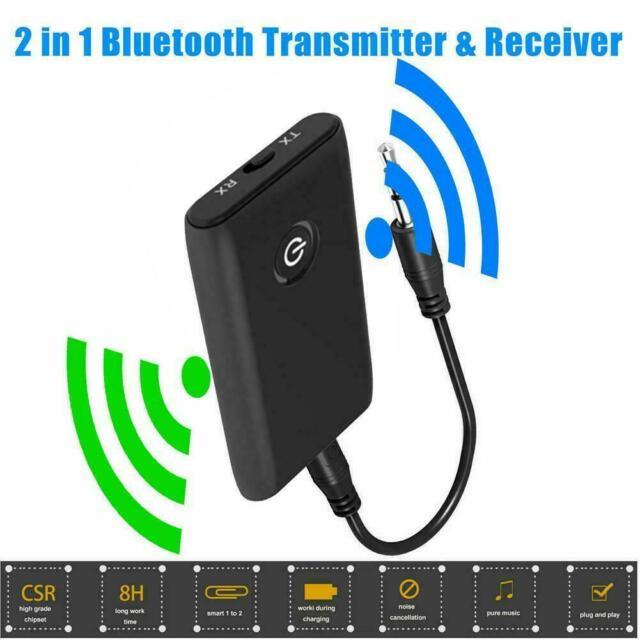 Bluetooth 5.0 Sender und Empfänger 2-in-1 Wireless 3.5mm Audio Aux Adapter J3O5