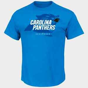 Majestic Mens Carolina Panthers NFL Crew Neck T-Shirt 100/% Cotton