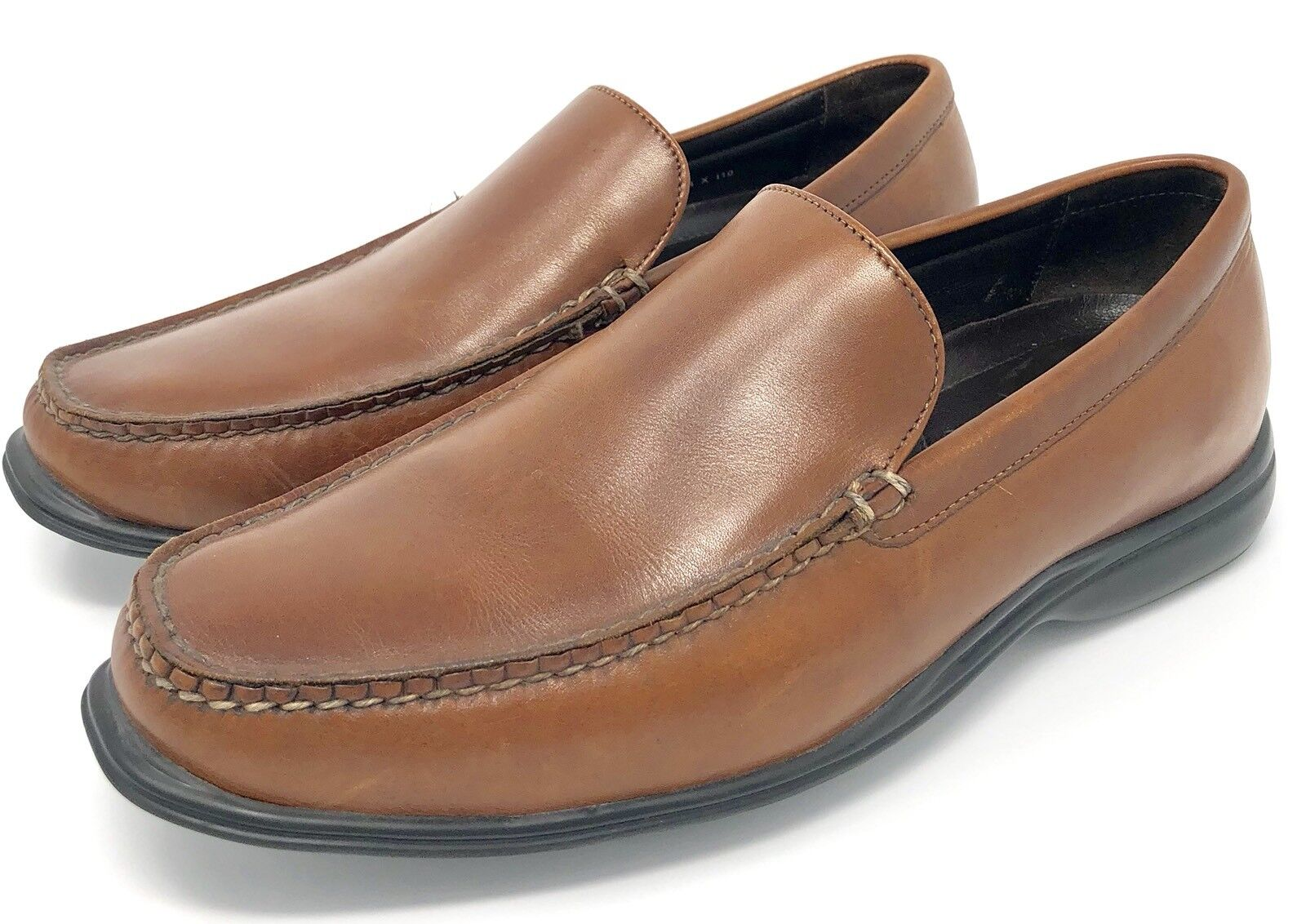 COLE HAAN Tan Leather Air Holden Venetian Slip On Moc Loafers Sz 8 W