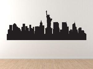 american city skyline new york city contour silhouette vinyl