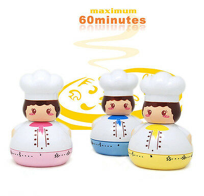 60 Minute Mechanical Timer Kitchen Chef Cookware Cooking Food Baking Making Tool