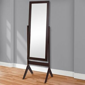 Brown floor mirror full length modern standing adjustable for Decorative floor length mirrors