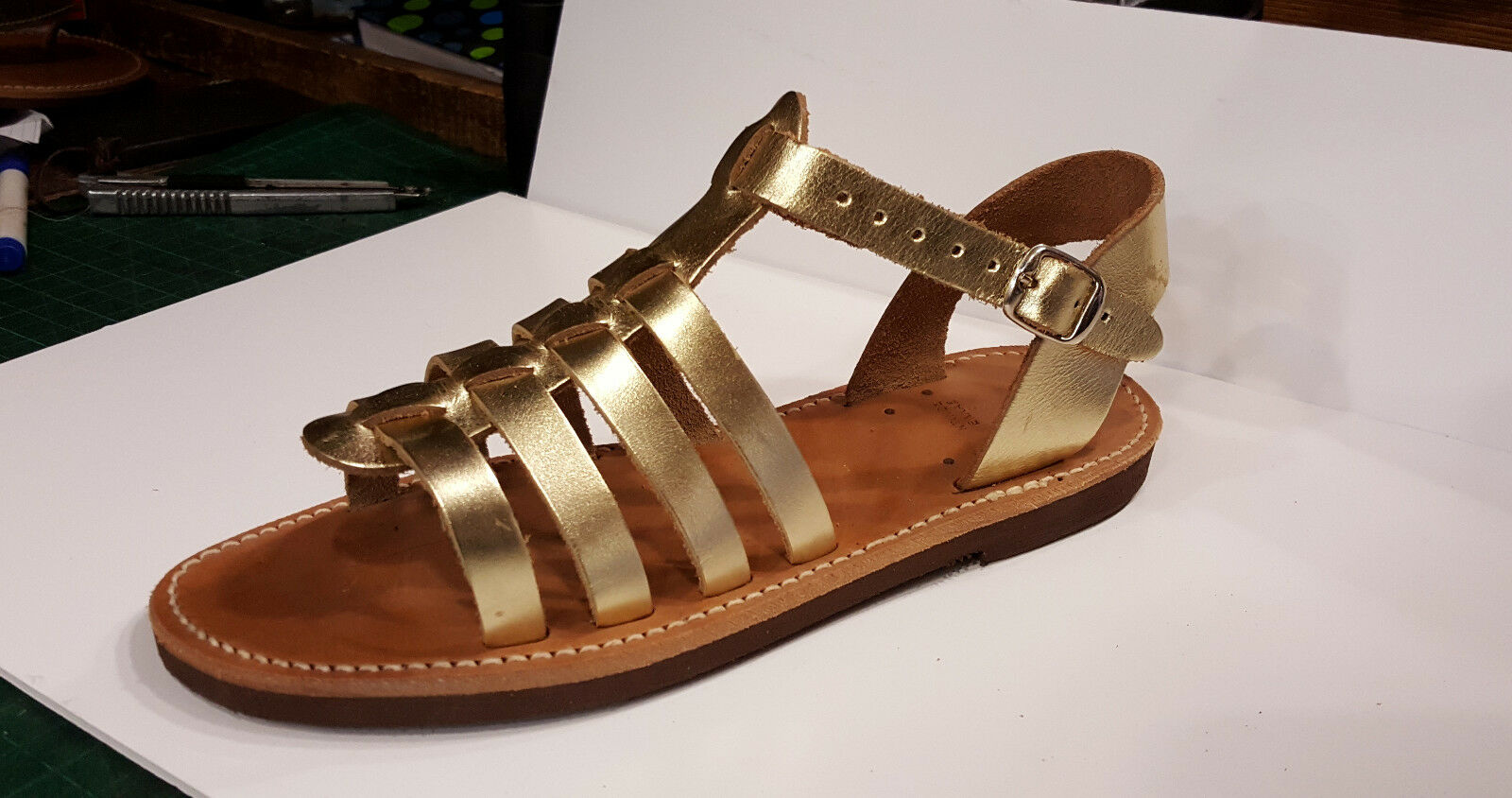 Handmade or Leather Sandals Greek Classic Design Ancient Boho Hippie Style